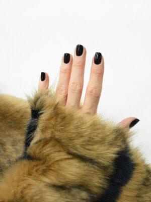 Мех стриженый светло-коричневый в полоску (10074) - Фото 11
