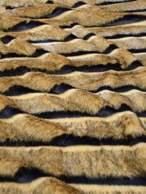 Мех стриженый светло-коричневый в полоску (10074) - Фото 10