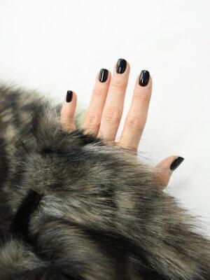 Мех искусственный серый с черным из кусочков (10076) - Фото 13