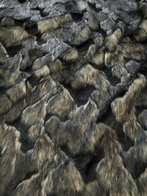 Мех искусственный серый с черным из кусочков (10076) - Фото 12