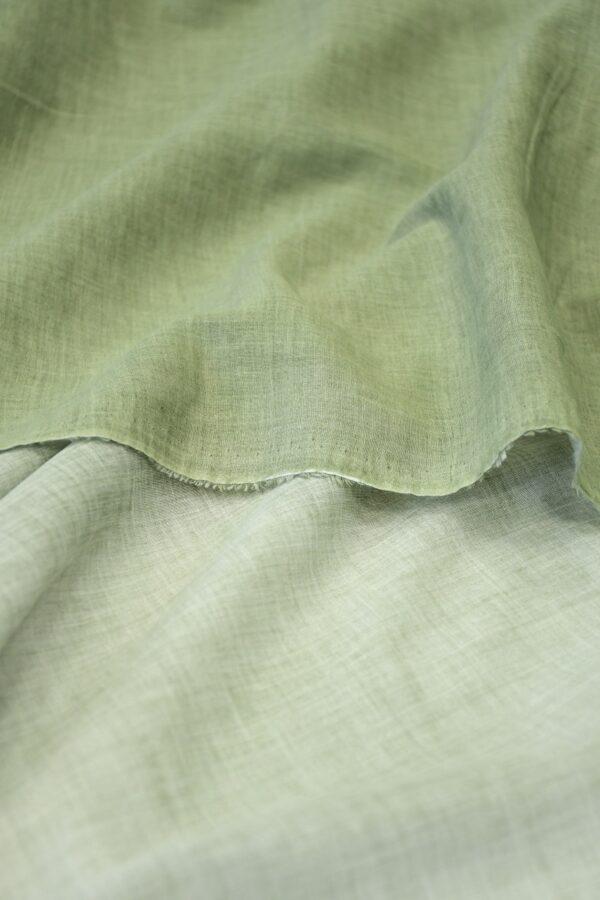 Батист зеленый с эффектом меланж (10085) - Фото 10