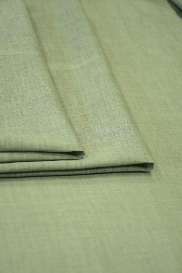 Батист зеленый с эффектом меланж (10085) - Фото 9