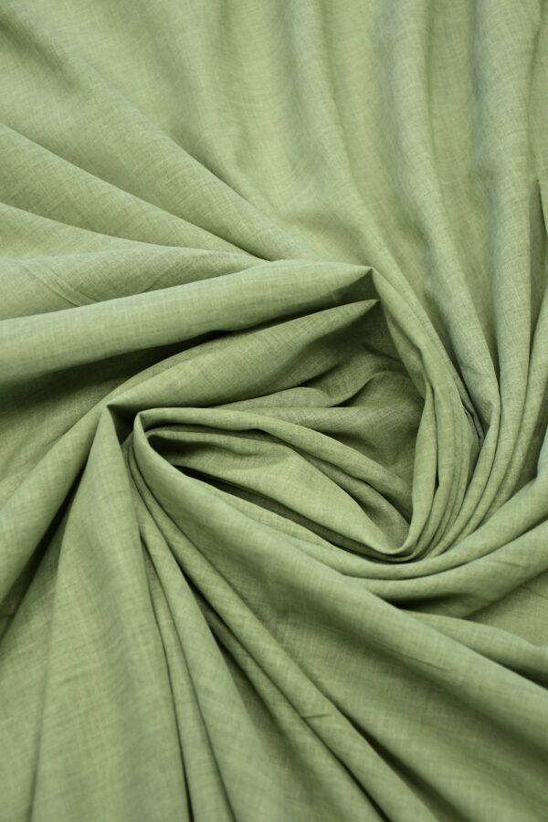 Батист зеленый с эффектом меланж (10085) - Фото 8