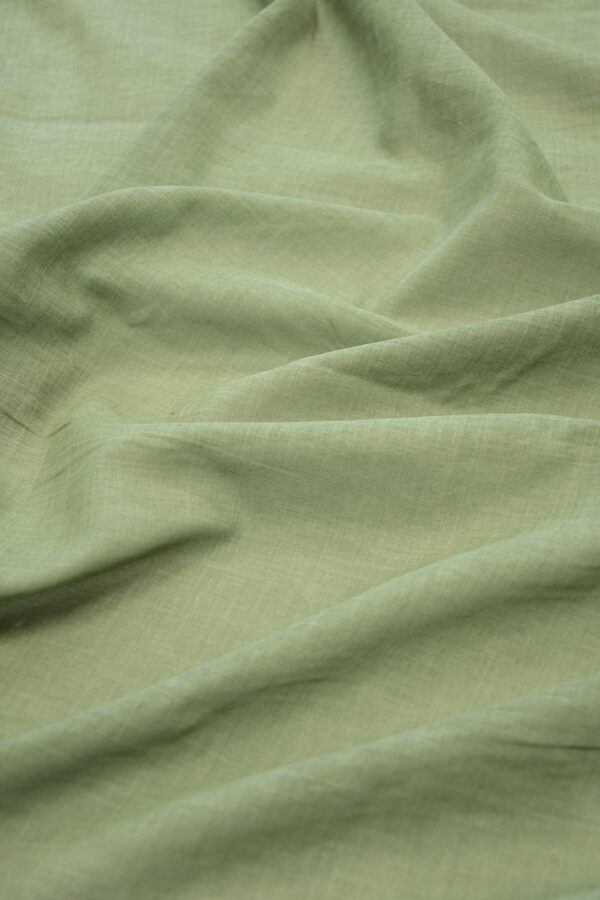 Батист зеленый с эффектом меланж (10085) - Фото 6