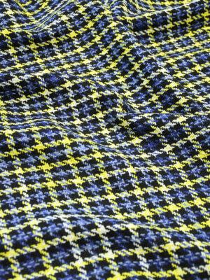 Шанель синяя с черным в желтую клетку (10125) - Фото 26
