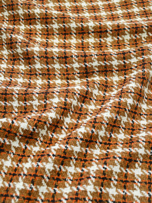 Шанель коричневая с белым в клетку (10126) - Фото 24