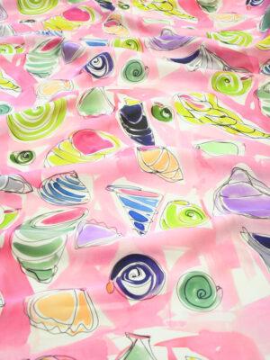 Органза розового оттенка с ракушками (10131) - Фото 24