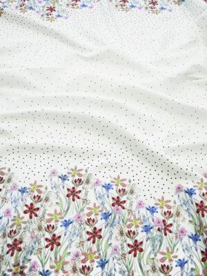 Рогожка белая в горошек и с цветочной каймой (10145) - Фото 22