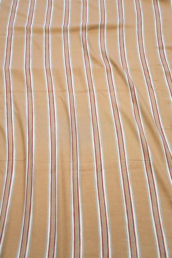 Штапель светло-коричневый в полоску (10147) - Фото 11