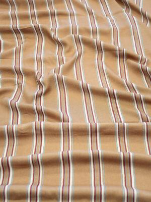 Штапель светло-коричневый в полоску (10147) - Фото 24