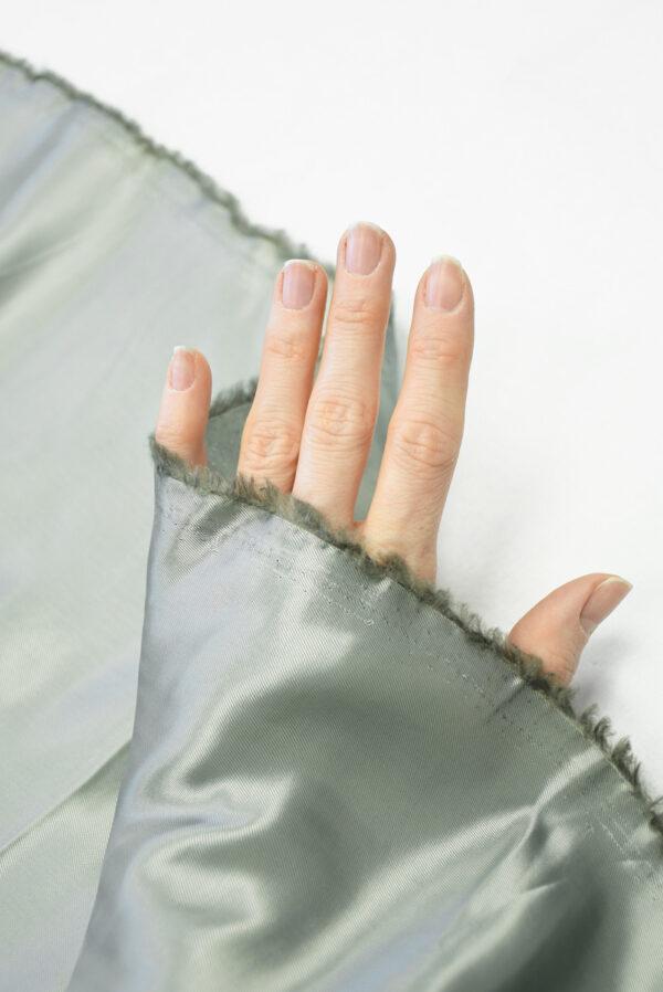 Подклад вискоза серый с зеленоватым оттенком (10148) - Фото 7