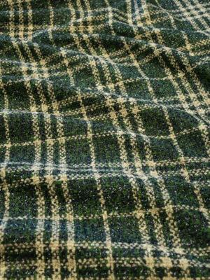 Шанель зеленая в бежевую клетку с люрексом (10155) - Фото 28