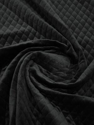 Курточная бархатная стежка черного цвета (10158) - Фото 12
