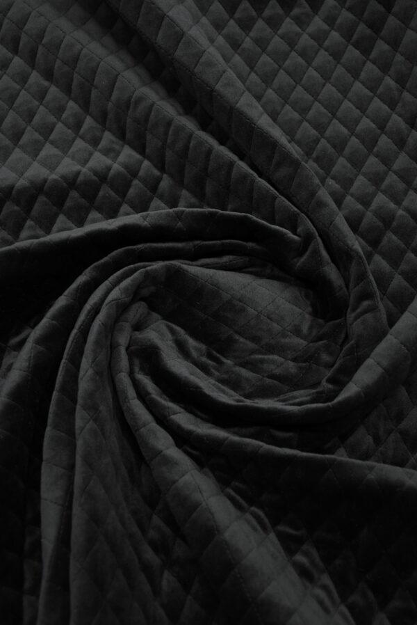 Курточная бархатная стежка черного цвета (10158) - Фото 7