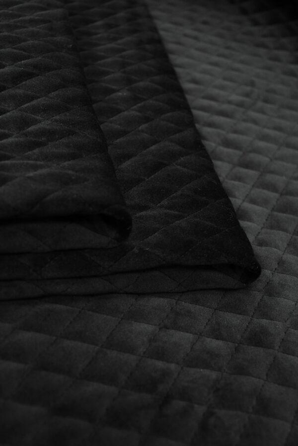 Курточная бархатная стежка черного цвета (10158) - Фото 9
