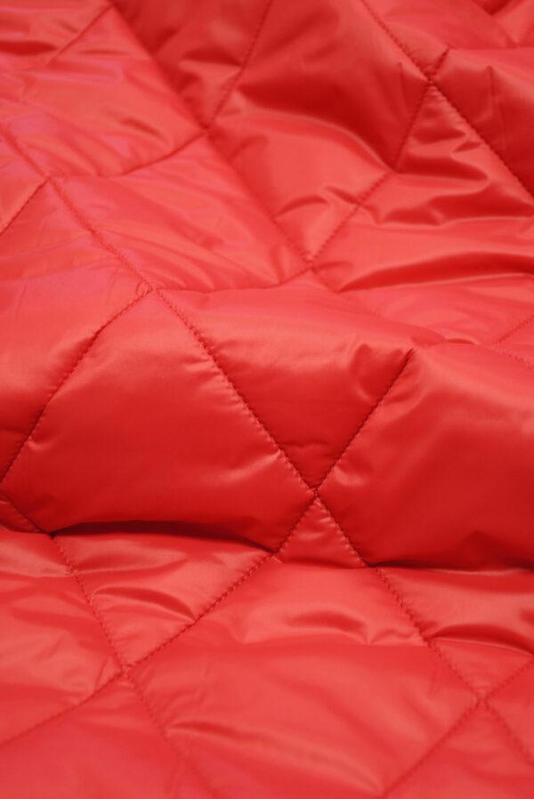 Курточная ткань красная с утеплителем (10160) - Фото 11