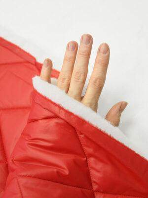 Курточная ткань красная с утеплителем (10160) - Фото 29