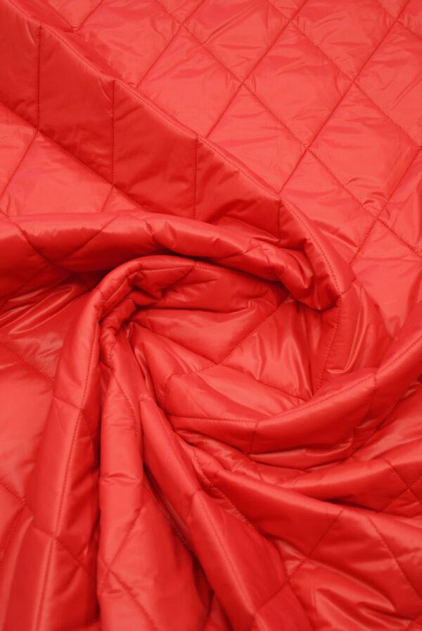 Курточная ткань красная с утеплителем (10160) - Фото 9