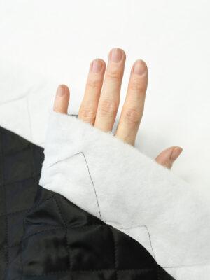 Курточная ткань черная с утеплителем (10162) - Фото 25