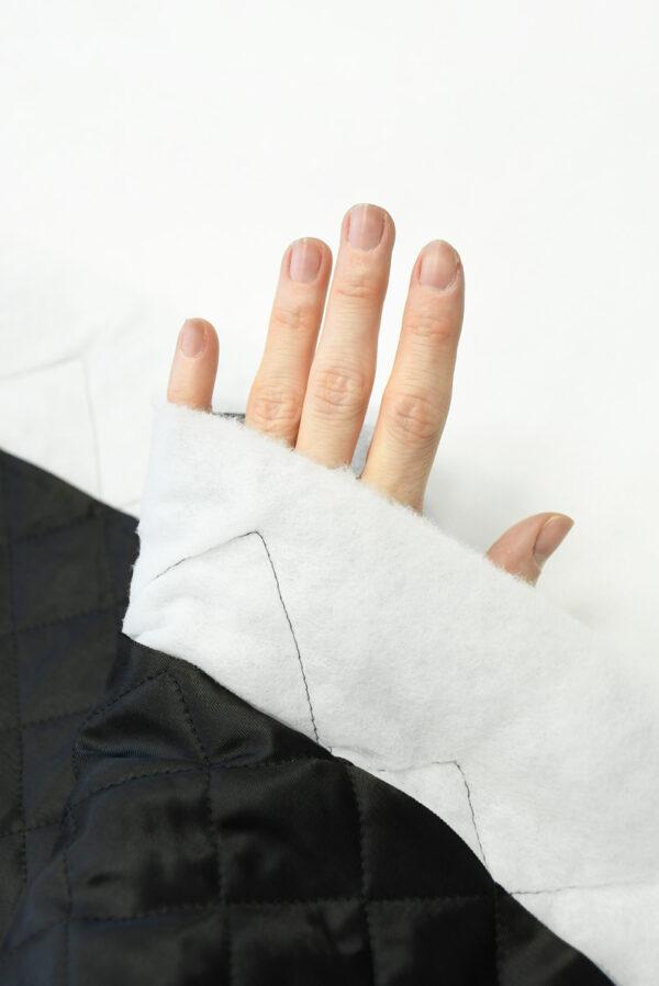 Курточная ткань черная с утеплителем (10162) - Фото 7