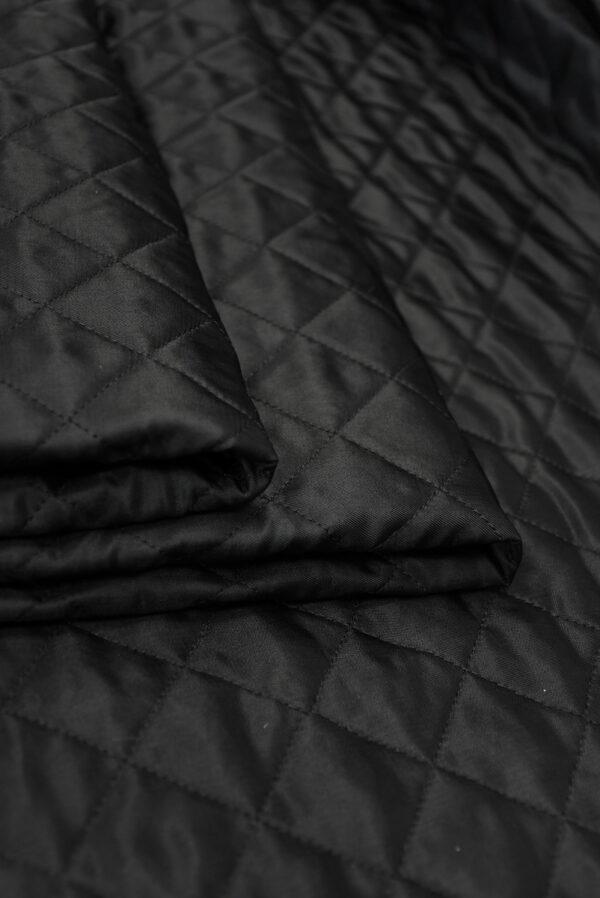 Курточная ткань черная с утеплителем (10162) - Фото 9