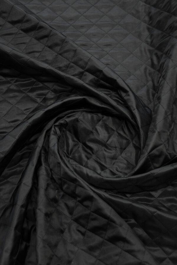 Курточная ткань черная с утеплителем (10162) - Фото 8