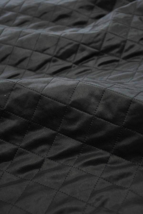 Курточная ткань черная с утеплителем (10162) - Фото 11