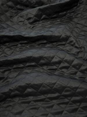 Курточная ткань черная с утеплителем (10162) - Фото 24