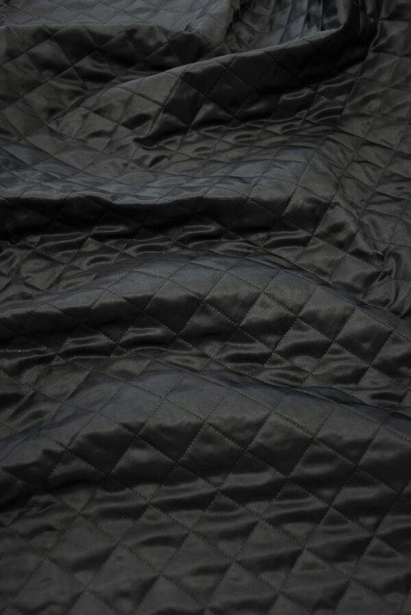 Курточная ткань черная с утеплителем (10162) - Фото 6