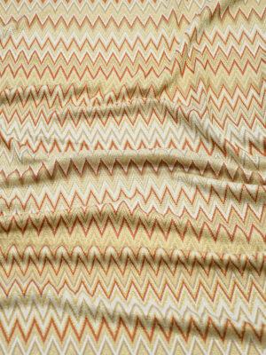 Трикотаж с зигзагом беж/бордо с люрексом (10165) - Фото 12