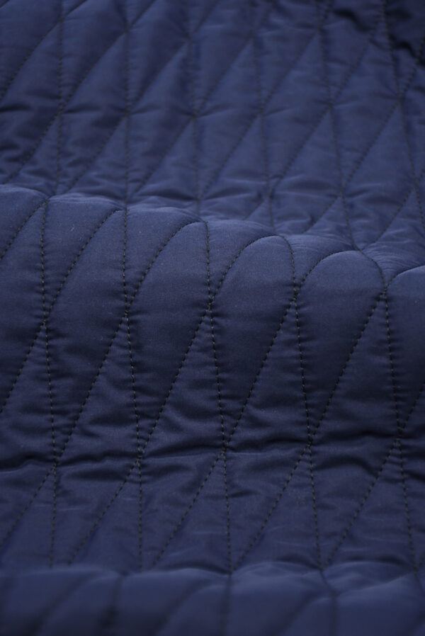 Курточная стежка темно-синяя в узкий ромб (10169) - Фото 11