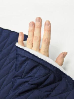 Курточная стежка темно-синяя в узкий ромб (10169) - Фото 13