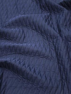 Курточная стежка темно-синяя в узкий ромб (10169) - Фото 12