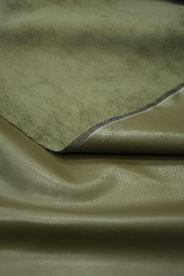 Экокожа стрейч оливковая гладкая (10170) - Фото 9