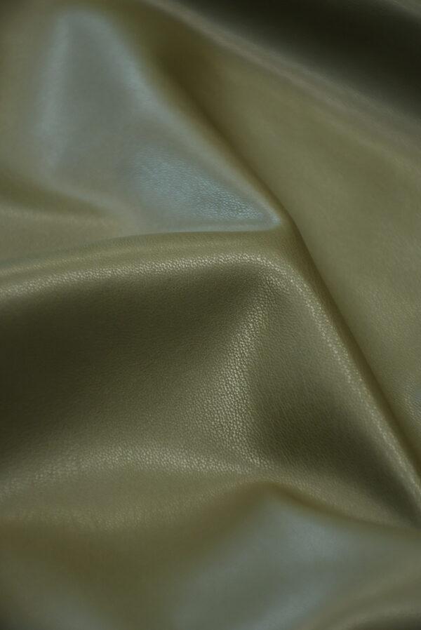Экокожа стрейч оливковая гладкая (10170) - Фото 11
