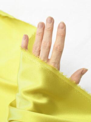 Шелк стрейч атласный желто-золотистый (10193) - Фото 15