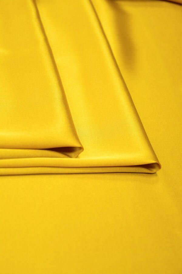 Шелк стрейч атласный темное золото (10195) - Фото 9