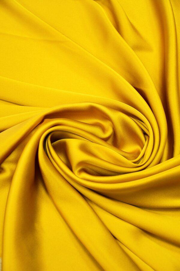 Шелк стрейч атласный темное золото (10195) - Фото 8