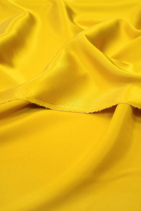 Шелк стрейч атласный темное золото (10195) - Фото 10