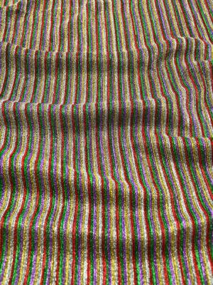 Трикотаж плиссе в разноцветную полоску с люрексом (9488) - Фото 6