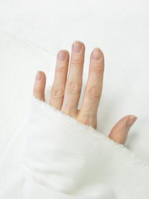 Бархат стрейч белый хлопковый (9997) - Фото 27