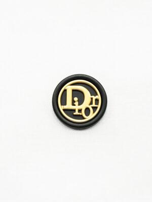 Пуговица металл черная матовая с золотой надписью (р1476) - Фото 12