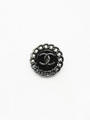 Пуговица металл блэк никель с черной эмалью (р1484) - Фото 10