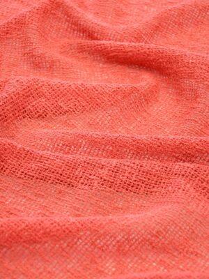 Сетка макраме хлопковая коралловая 6