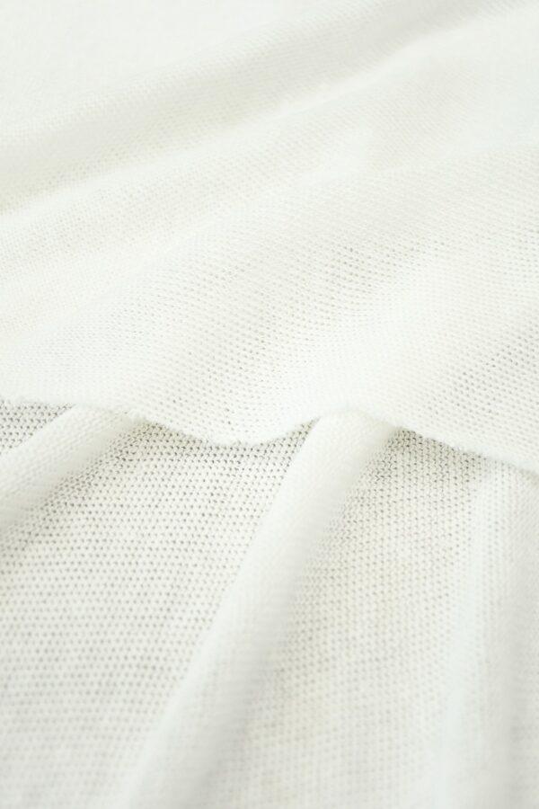 Трикотаж сетка хлопковый молочный (10223) - Фото 10