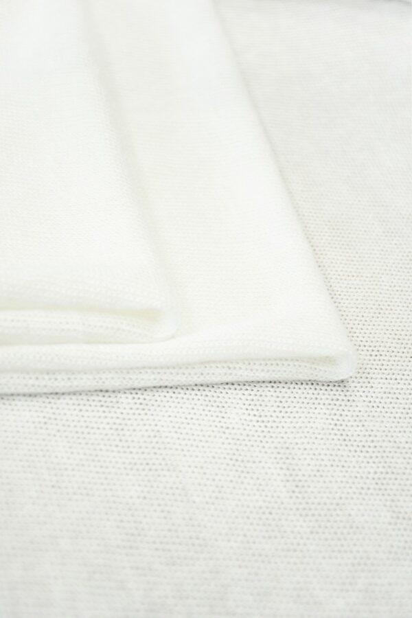 Трикотаж сетка хлопковый молочный (10223) - Фото 9