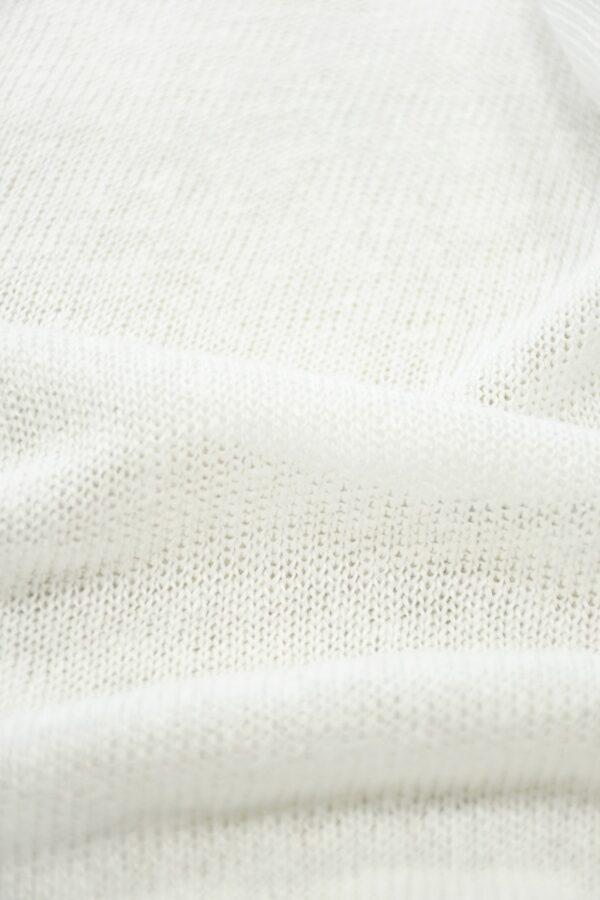 Трикотаж сетка хлопковый молочный (10223) - Фото 11