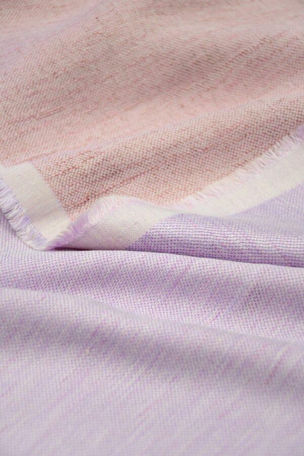 Лен твидовый лилового оттенка (10224) - Фото 10