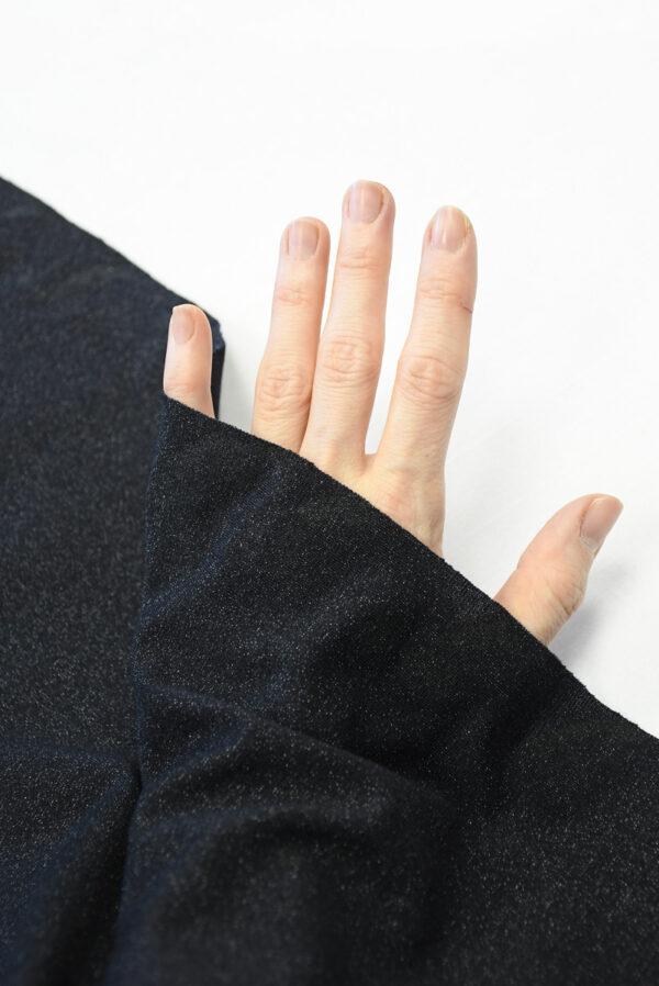 Трикотаж черный с люрексом (10262) - Фото 11