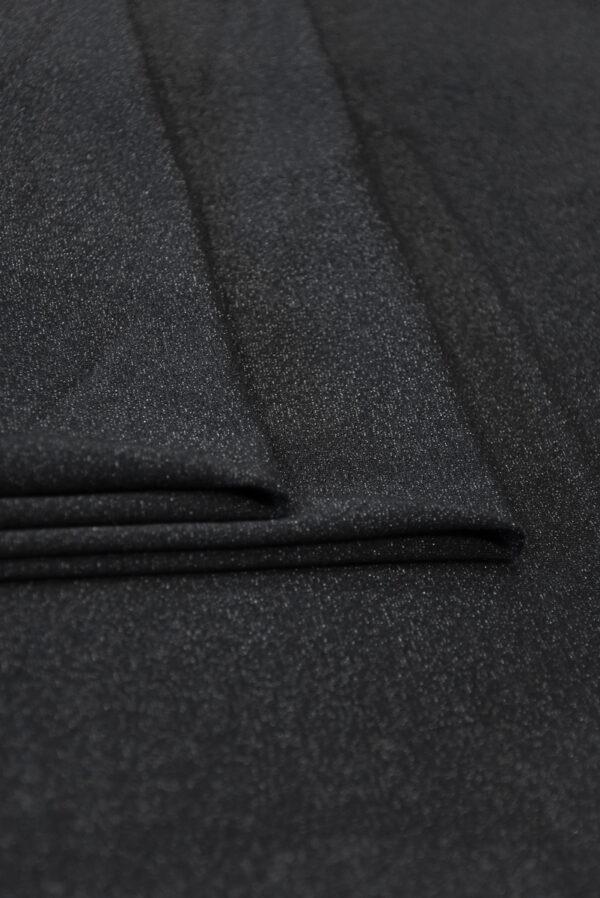 Трикотаж черный с люрексом (10262) - Фото 8